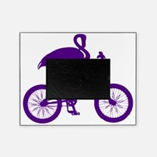 Purple Flamingo on Bicycle Picture Frame