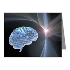 Brain research, conceptual a Note Cards (Pk of 10)