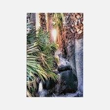 palm tree pond Rectangle Magnet