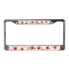 Plum Flowers License Plate Frame