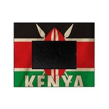 Kenya Fabric Flag Picture Frame