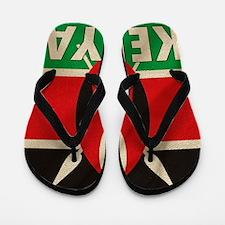 Kenya Fabric Flag Flip Flops