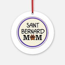 Saint Bernard Dog Mom Ornament (Round)