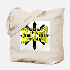Kristian Klayton Yellow/Black Logo Tote Bag