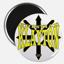 Kristian Klayton Yellow/Black Logo Magnet