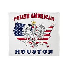Houston Texas Polish Throw Blanket