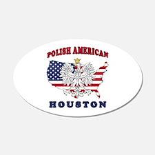 Houston Texas Polish Wall Decal