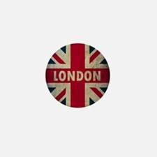 Vintage Union Jack Mini Button