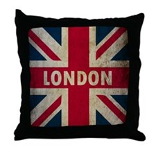 Vintage Union Jack Throw Pillow