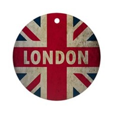 Vintage Union Jack Round Ornament