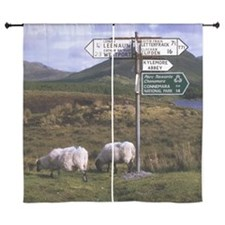 """County Galway, Ireland, Road Sign Nea 60"""" Curtains"""