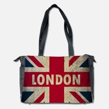 Vintage Union Jack Diaper Bag