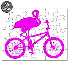 Pink Flamingo on Bicycle Puzzle