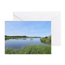 Sailboat on Acabonac Bay Greeting Card