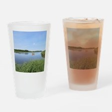 Sailboat on Acabonac Bay Drinking Glass