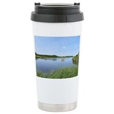 Sailboat on Acabonac Bay Travel Mug