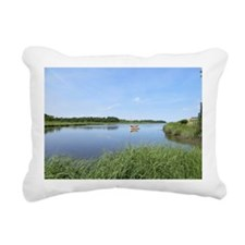 Sailboat on Acabonac Bay Rectangular Canvas Pillow