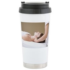 Getting A Neck Massage From A M Travel Mug