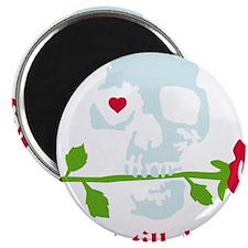 love skull rose Magnet