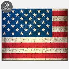 Vintage USA Flag Puzzle