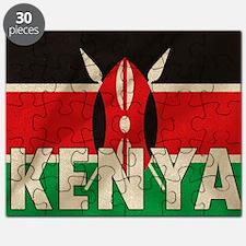 Kenya Fabric Flag Puzzle