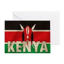 Kenya Fabric Flag Greeting Card