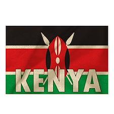Kenya Fabric Flag Postcards (Package of 8)