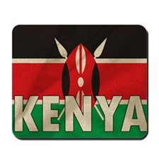 Kenya Fabric Flag Mousepad