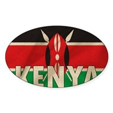 Kenya Fabric Flag Decal