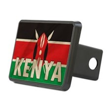 Kenya Fabric Flag Hitch Cover