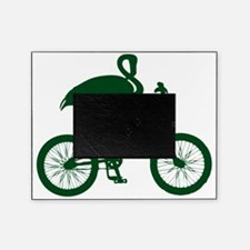 Dark Green Flamingo on Bicycle Picture Frame