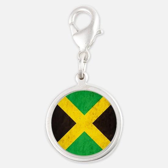 Vintage Jamaica Flag Silver Round Charm
