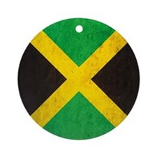 Vintage Jamaica Flag Round Ornament