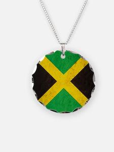 Vintage Jamaica Flag Necklace