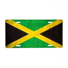 Vintgae Jamaica Aluminum License Plate