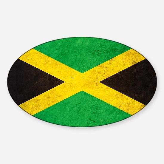 Vintgae Jamaica Sticker (Oval)
