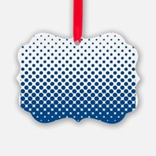 Modern Halftone - Blue and White Ornament