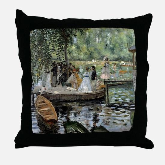 Pierre-Auguste Renoir La Grenouillere Throw Pillow