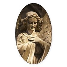 A Stone Statue Of An Angel In Recol Decal