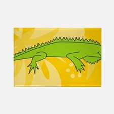 Iguana Patches Rectangle Magnet