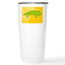 Iguana Oval Car Magnet Travel Mug