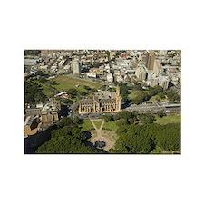 St  James Park, aerial view Rectangle Magnet
