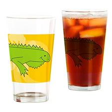 iguana Round Coaster Drinking Glass
