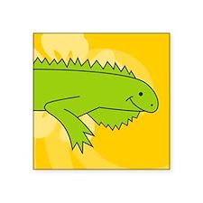 "iguana Round Coaster Square Sticker 3"" x 3"""