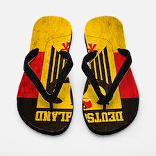 Vintage Deutschland Flag Flip Flops
