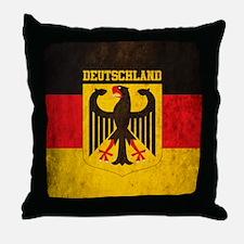 Vintage Deutschland Flag Throw Pillow