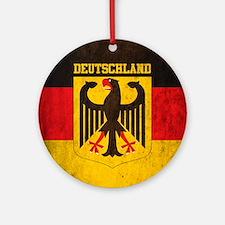Vintage Deutschland Flag Round Ornament