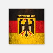 """Vintage Deutschland Flag Square Sticker 3"""" x 3"""""""