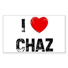 I * Chaz Rectangle Decal