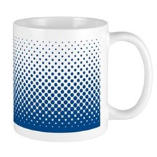 Modern Halftone - Blue and White Mug